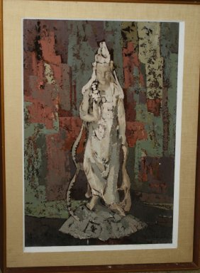 20th C American School Still Life With Asian Divinity