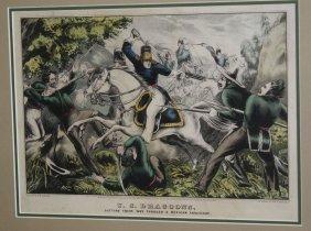 N Currrier- Us Dragoons, Cutting Their Way Through A