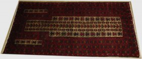"Mid 20th C Balouch Prayer Rug, 2' 8"" X 5' 2"""