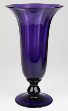 Attributed Pairpoint Blown Glass Amethyst Trumpet Form