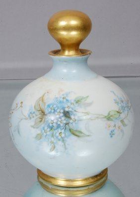 Limoges Hand Painted Perfume Bottle