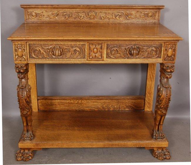 12 Piece Dining Room Set: 159: R.J. Horner 12 Piece Oak Dining Room Set : Lot 159