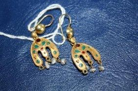 Pair Of 18K Earrings