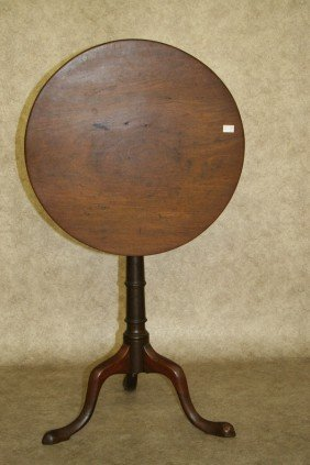 Candlestand, Round Tilt Top, 18th Century