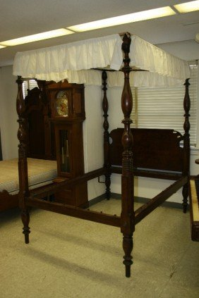 Bed, Ca. 1835, 4 Poster Canopy