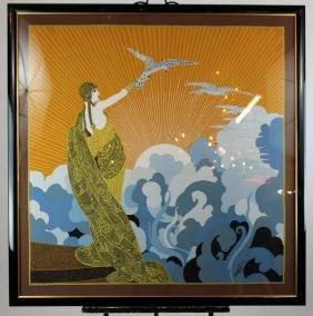 Wings Of Time' Erte Silk Scarf