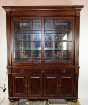 Hammary Sliding Door Mahogany Bookcase