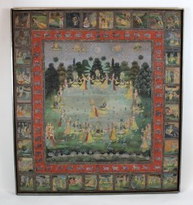 Indian Pichwai Painting On Cloth