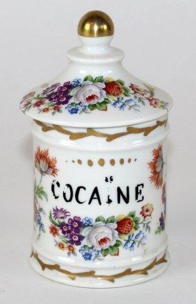 Sevres Porcelain Lidded Pharmacy Bottle