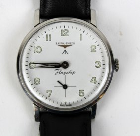Vintage Longines Flagship Watch With Leather Band