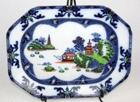 English Blue & White Meat Platter