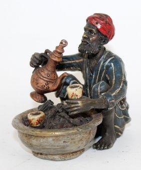 Cold Painted Bronze Miniature Figurine