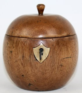 English Apple Form Tea Caddy