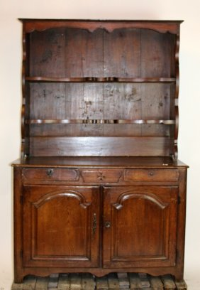 French Provincial Buffet With Hutch In Oak