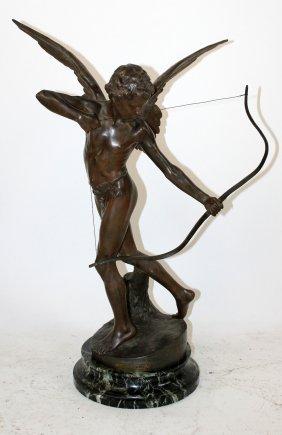 R. Aurilli French Figural Statue L'amour A L'arc