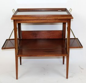 French Art Deco Drop Side Tea Table