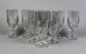Set Of 8 Crystal Water Goblets