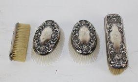 4pc Sterling Silver Brush Set