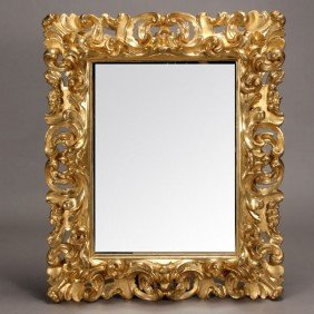 Italian Baroque Style Gilt And Gessoed Mirror