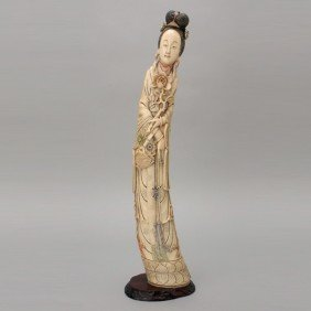 A Standing Ivory Beauty*, 19th Century