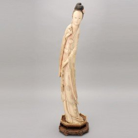 A Large Ivory Beauty*, Late Qing Dynasty