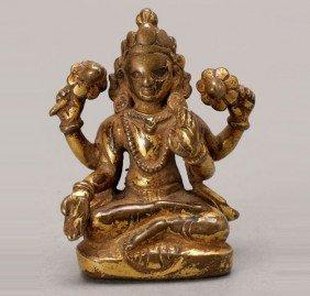 A Gilt Copper Avalokiteshvara, 15th/16th C.