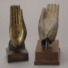 Two Thai Bronze Hands