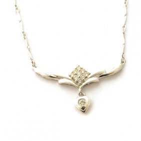 Diamond, Platinum Necklace.