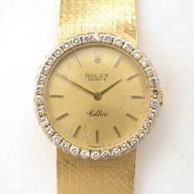 Ladies Rolex Cellini Diamond, Yellow Gold Wristwatch.