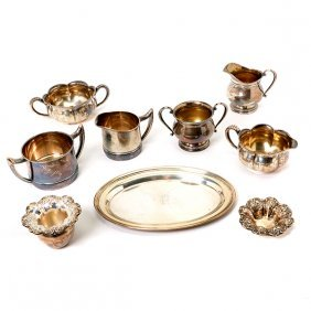 Three Sterling Creamer And Sugar Sets