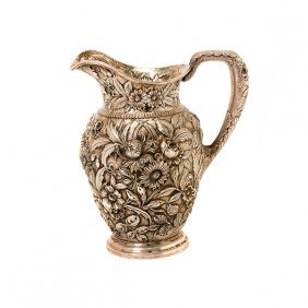 Kirk & Son Sterling Silver Repousse Water Pitcher
