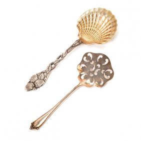 Tiffany Sterling Strawberry Clam Shell Spoon And A