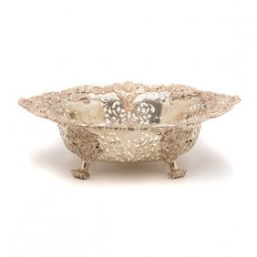 Victorian Sterling Reticulated Basket