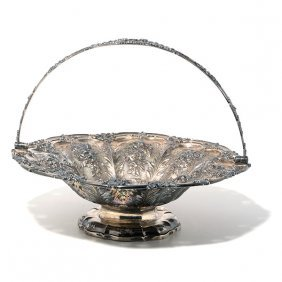 English Sterling Repousse Basket