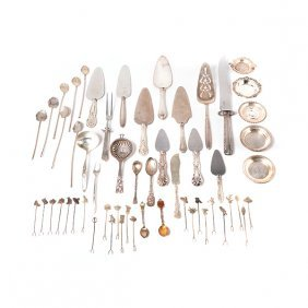 Collection Of Sterling Flatware And Serving Pieces