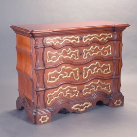 Continental Parcel Gilt Decorated Commode