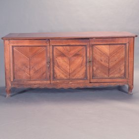 French Provincial Three Door Cabinet