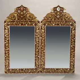 Pair Of Moorish Inlaid Mirrors