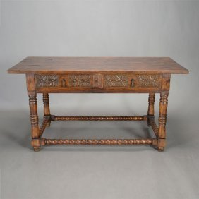 Italian Renaissance Style Two Drawer Table