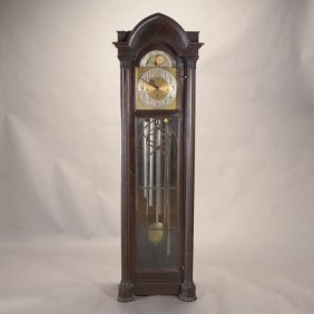 Gothic Revival Ebonized Tall Case Clock