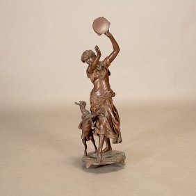 After Edouard Houssin, Bronze Figure Of Esmeralda