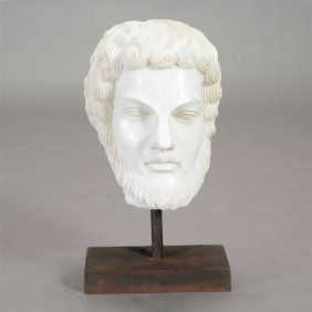 Italian Carrara Marble Bust Of A Man