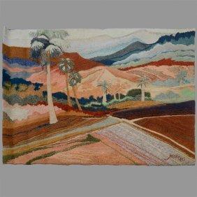 Mid Century Wool Tapestry