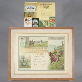 Framed Swiss Member Certificate And A Frame Of Jack