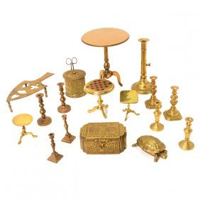 Collection Of English Brass Items