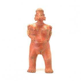 Pre-columbian Female Figural Pottery Vessel