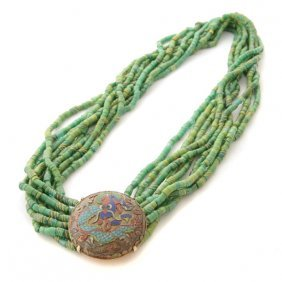 Taiwanese Paiwan Glass Bead Necklace.