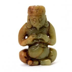 A Jade Garuda Pendant