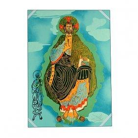 "Salvador Dali ""christ In Majesty"" Lithograph."
