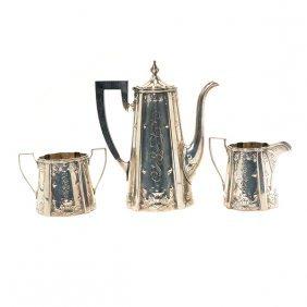Meriden Sterling Silver Three Piece Coffee Service